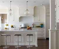 kitchen island pendant lighting Old Greenwich Beach Cottage - Beach Style - Kitchen - by ...