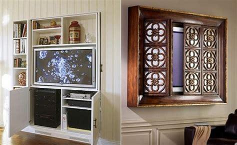 Fernseher Hinter Bild Verstecken by Der Moderne Fernseher An Verschiedene Interieurs Anpassend