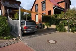 Carport Mit Plane : carport mit sonnensegel aus precontraint tuch und pfosten aus ~ Sanjose-hotels-ca.com Haus und Dekorationen