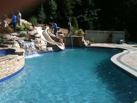 custom pool ideas landscape lighting archive landscaping company nj pa custom pools walkways patios