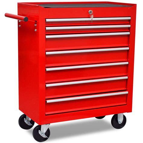 batterie de cuisine professionnel servante d 39 atelier 7 tiroirs avec serrure centralise ide