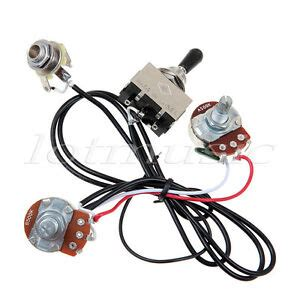 Electric Guitar Wiring Harness Prewired Kit Way Toggle