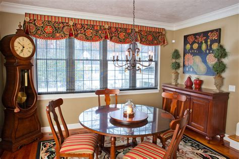 kitchen window treatment ideas dining room traditional