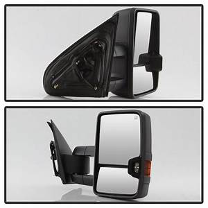 14-18 Chevy Silverado    Gmc Sierra Power Heated Led Signal Towing Mirror