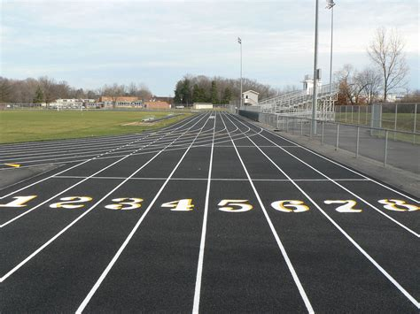 brand  perry track surface perry high school track