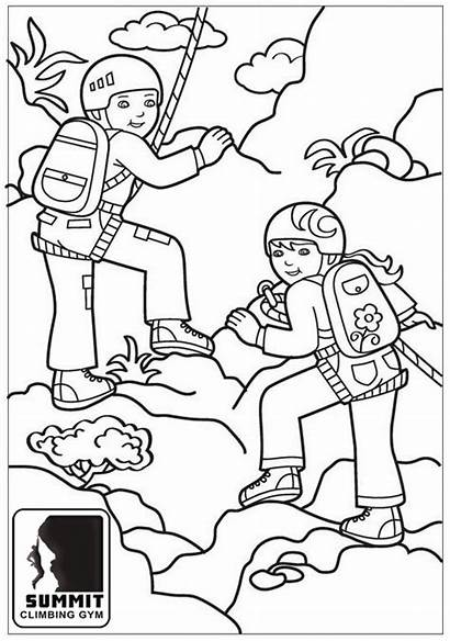 Coloring Climbing Mountain Climbers Pages Extreme Sports