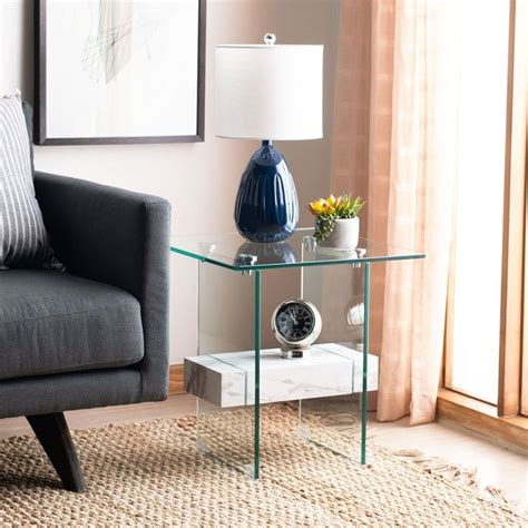Shop the most exclusive safavieh table & chair offers at the best prices with free shipping at buyma. Safavieh Kayley Akzenttisch mit Marmor in 2020 | Marble accent table, Faux marble coffee table ...