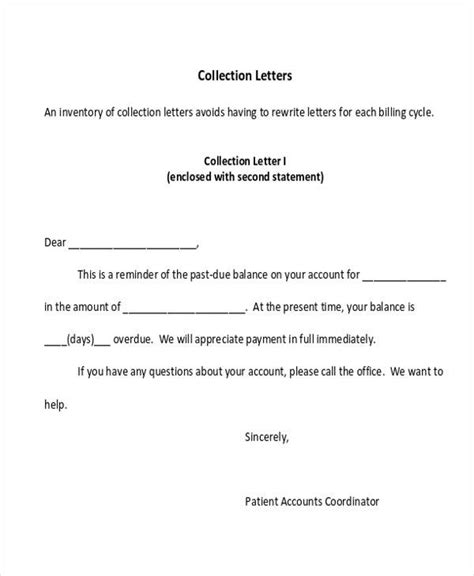 collection letter examples google docs ms word