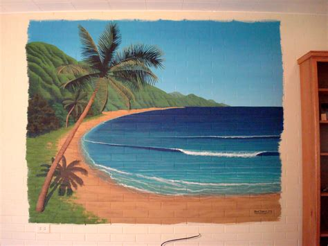 hawaiian beach mural