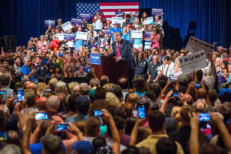 donald trump defiantly rallies   silent majority
