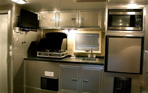 truck camper solid wall kitchen  photo
