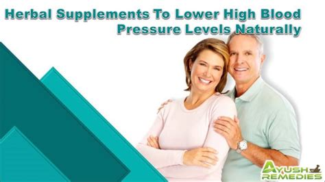 Herbal Supplements To Lower High Blood Pressure Levels ...
