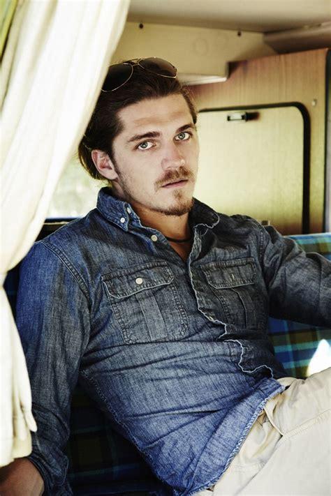 Malcolm Freberg | Gorgeous men, Denim jacket, Leather jacket