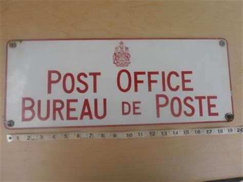 bureau poste canada vintage bureau de poste post office enamel sign canada mail