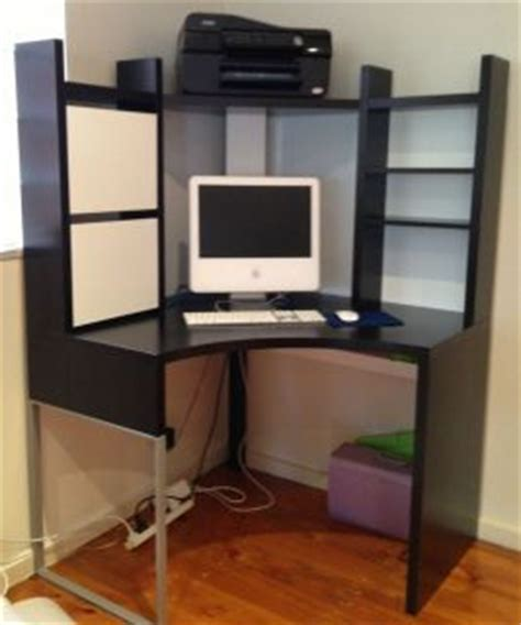 corner desk ikea ebay ikea mikael corner workstation desk mint condition on