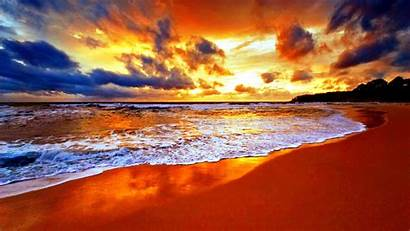 Sunset Nature Seashore During Wallpapers