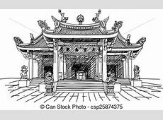 Chinese temple vector Vector illustration of a chinese