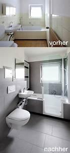 Badrenovierung Kleines Bad : badrenovierung mit twinline 2 duschbadewanne teilversenkt mit nur 5 5 cm einstiegsh he das ~ Markanthonyermac.com Haus und Dekorationen