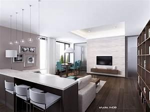 sleek modern apartment
