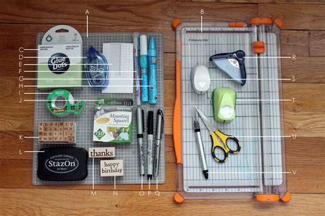 Basic Card Making Supplies And Tools