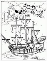 Coloring Pirate Pages Ship Pirates Drawing Printable Sunken Sheets Boat Halloween Sheet Drawings Cartoon Pittsburgh Source Area Popular Everfreecoloring Coloringhome sketch template