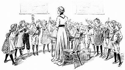 Victorian Clipart Education Children Classroom Clip Teacher