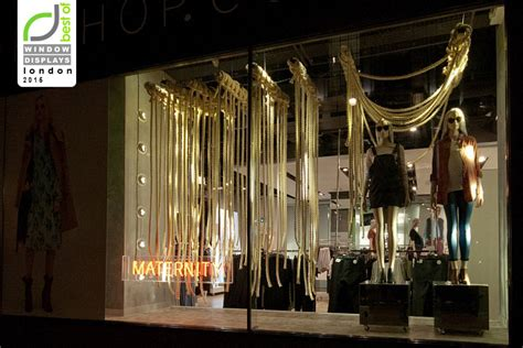 top shop windows fall  london uk