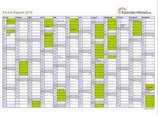 Ferien Bayern 2015 Ferienkalender zum Ausdrucken