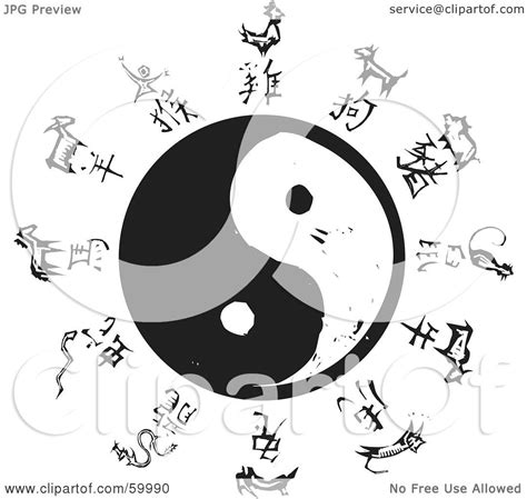 royalty free clipart royalty free rf clipart illustration of black and white