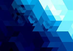 Abstract bright blue geometric shape - Download Free