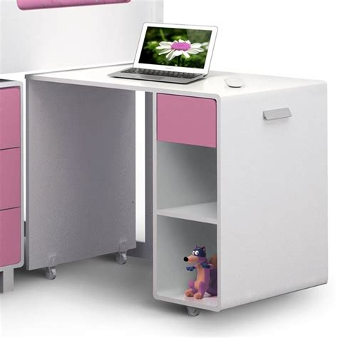 childrens desk with storage uk kimbo cabin bed with storage in white pink finish