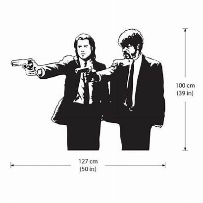 Jules Vincent Pulp Fiction Guns Duo Decal