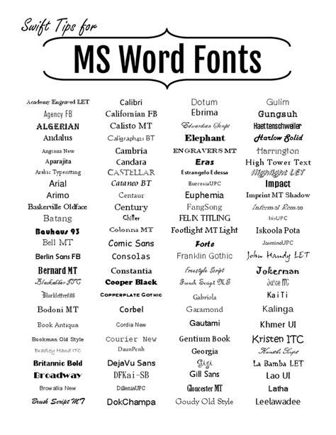 Microsoft Word Fonts | Office Essentials : WORD, EXCEL, ACCESS | Schriftarten, Schrift, Grafik