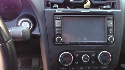 nissan altima dash stereo radio removal youtube