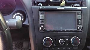 Nissan Altima Dash Stereo Radio Removal