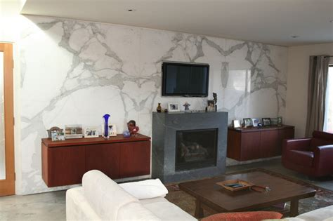white marble contemporary living room santa barbara