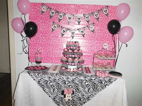 Zebra Minnie Mouse Baby Shower Party Ideas  Photo 1 Of 9