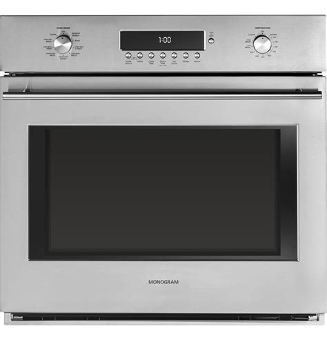 zetshss monogram  electronic convection single wall oven  monogram collection