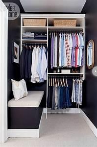 Dressing Petit Espace : dressing dans un petit espace penderie deco decoration maison rangement vetements mode ~ Teatrodelosmanantiales.com Idées de Décoration