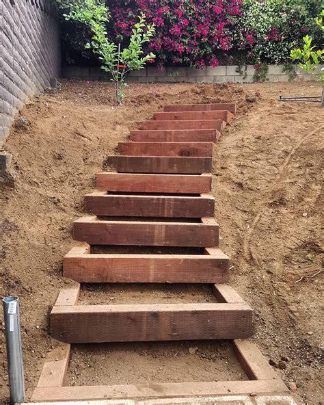 Gartentreppe Gestalten by Built A Set Of Timber Garden Stairs Today Up An