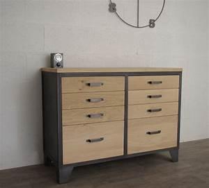 Bahut Style Industriel. meuble bahut buffet semainier style ...