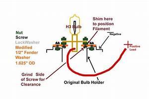 H3 Bulb Wiring
