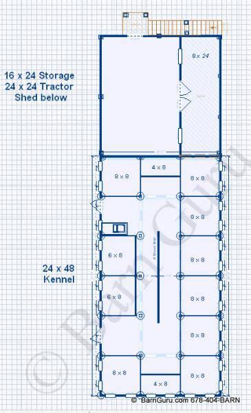 dog kennel plans design floor plan