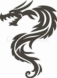 Dragon Tattoo white background vector illustration. Vector ...