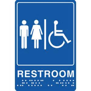 Printable Handicap Bathroom Signs by Braille Unisex Handicap Restroom Sign 6x9 Quot Hd Supply