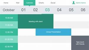 Gantt Calendar Calendar Slide Design For Data Dashboard Slidemodel