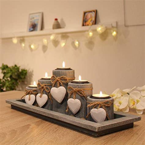 weihnachtsdeko auf holztablett teelichthalter set auf holztablett tischdekoration weihnachtsdeko innen tischdeko winterdeko