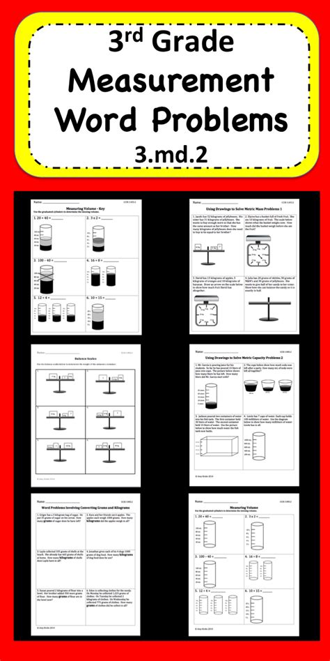 measurement word problems word problems math and elementary math