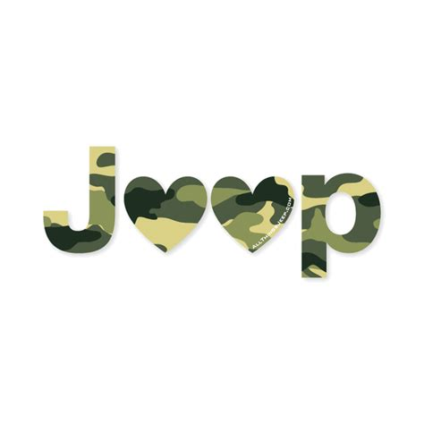 jeep heartbeat all things jeep jeep heart decal in camo