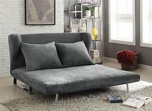 Contemporary grey sofa bed converts from sofa to chaise for Sofa converts to queen bed
